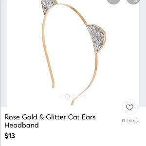 Accessories - Rose Gold Cat Ear Headband